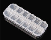 12 Grids Empty Case for Craft Bead Glitter Powder Acrylic Clear Container