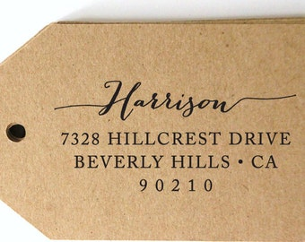 CUSTOM address STAMP from USA, pre inked stamp, Wedding Stamp, rsvp stamp, return address stamp with proof, Calligraphy Address Stamp b5-50