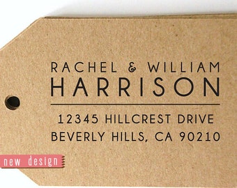 CUSTOM pre inked address STAMP from USA, eco-friendly custom address stamp, pre inked custom rsvp address stamper with proof - Stamp d5-25