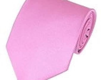 mens  pink  necktie custom made many colors