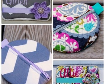 Travel Wipe Case and Pacifier Pod Combo Set, You Choose the Fabric