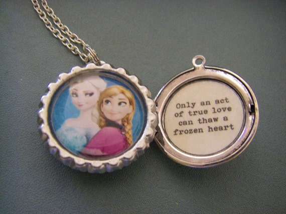 Frozen Inspired Necklace Frozen Inspired Locket Elsa