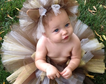 Lion Costume, Lion Tutu Costume, Cat Costume, Halloween Tutu Costume, Infant and Toddler Halloween Costume