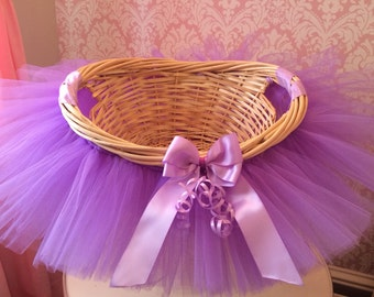 Tutu easter basket flower girl basket tutu basket tutu basket tutu gift basket tutu baby shower basket wedding basket tutu negle Image collections