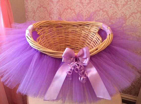 Tutu Basket, Tutu Gift Basket, Tutu Baby Shower Basket, Wedding Basket, tutu Easter Basket, Newborn Photo Prop Basket