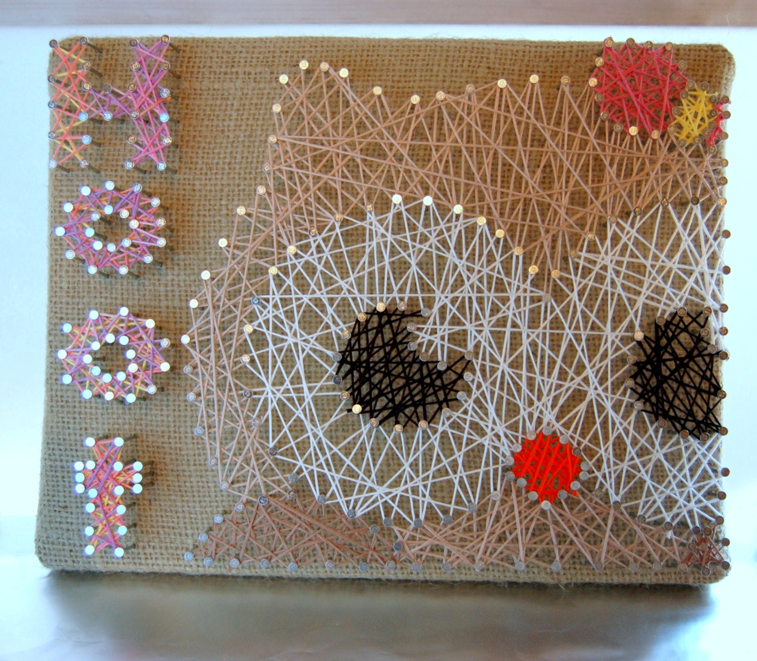 Owl String Art Personalized String Art by OrgaknitsbyBrielle