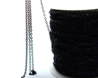 10 Meter Black 1.5x 2 mm Soldered Snake Chain