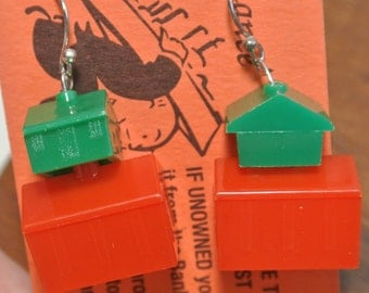 Monopoly Houses and Hotels Earrings