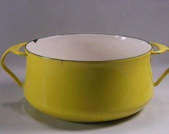 Vintage Yellow Dansk 9' Cooking Enamelware Pan Denmark.epsteam