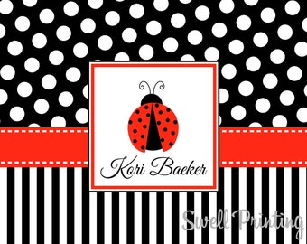 10 Personalized Ladybug Note cards Lady Bug Note cards by Swell Printing