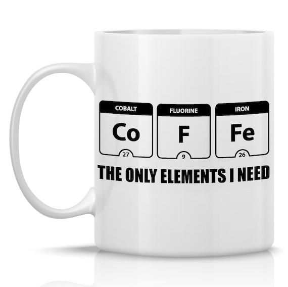 Periodic Table mug - funny coffee mug - science mug - unique mens gift - unique coffee mugs - coffee lover gift - gift for him - cute mug
