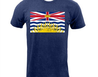 British Columbia Provincial Flag - Tri Indigo