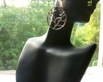 Silver Tree Of Life Dangle Earrings