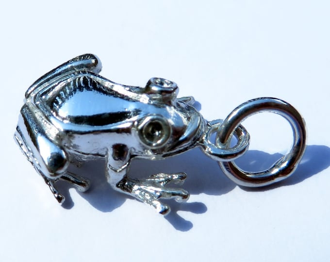925 Genuine Silver Frog Charm - 92.5% Sterling Necklace Weddings Christening Bride Bridesmaid 21st 16 Birthday Gift Price Fairy Tale Toad