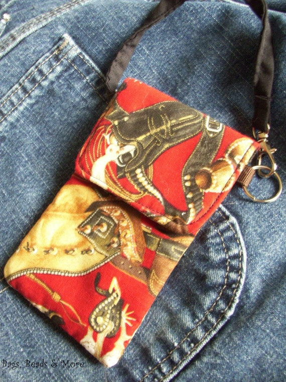 Country Western Camera Case, Small Phone Wristlet