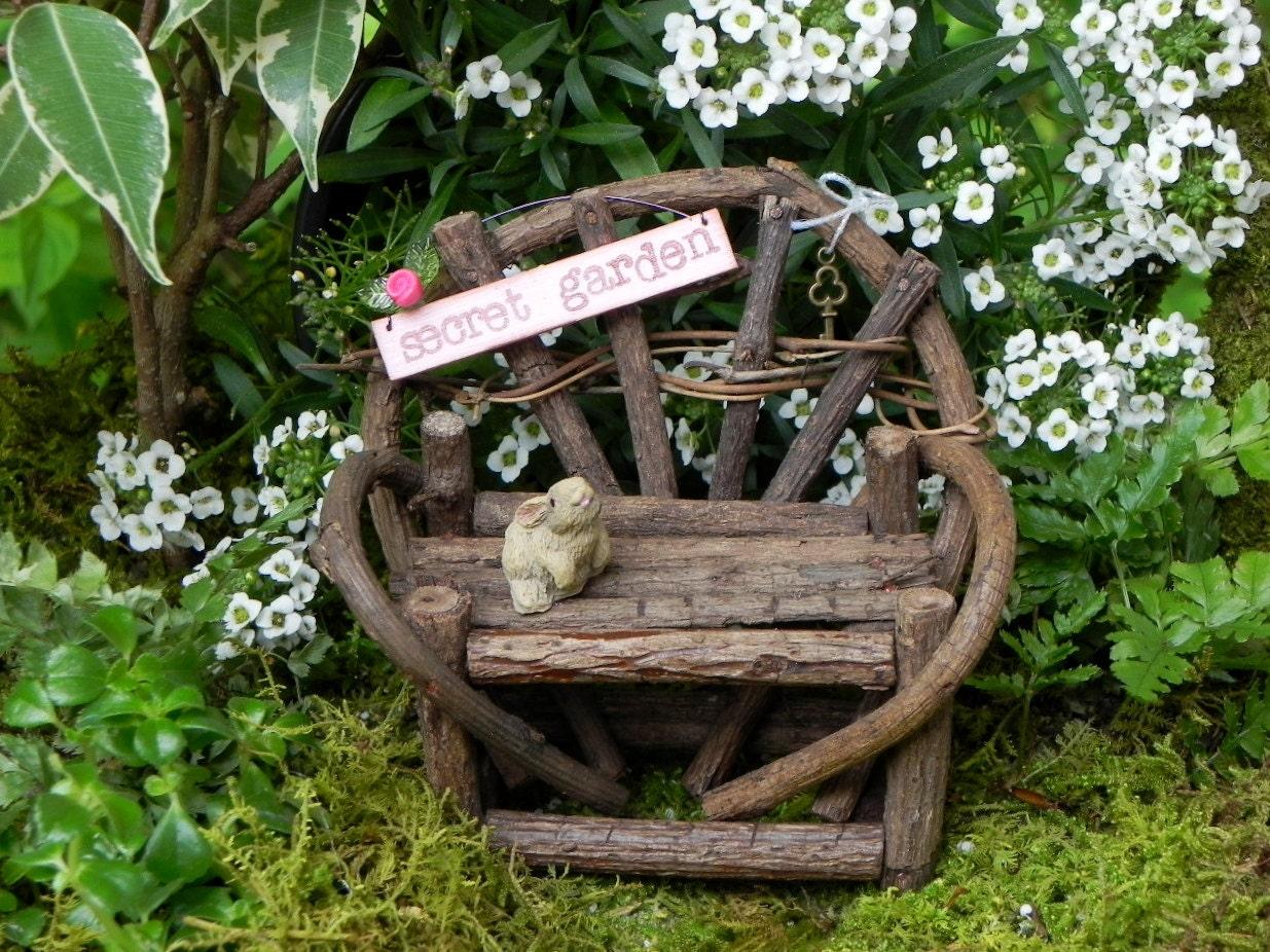 Fairy Garden Furniture Accessories Miniature Twig Bench Secret