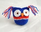 Crochet Owl Handmade Owl with Safety Eyes