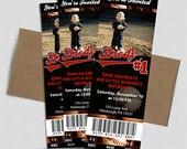 Baseball Ticket Birthday Invitation- Printable