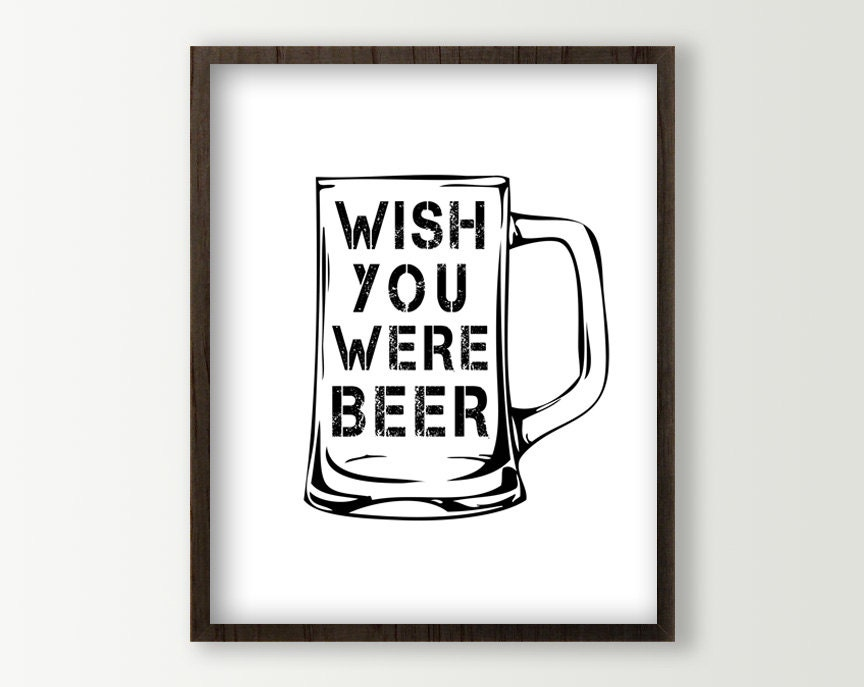 Beer Signs Man Cave Decor Beer Poster Beer Wall Decor