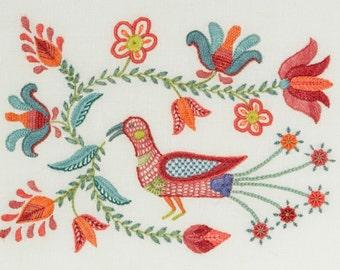 Crewel Embroidery Kit - TULIPA BIRD