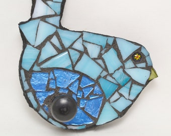 Blue Bird Mosaic Wall Hook