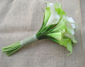 Calla Lily wedding Bouquet / Green And White