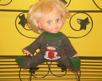 Christmas sleeper for Galoob Baby Face doll