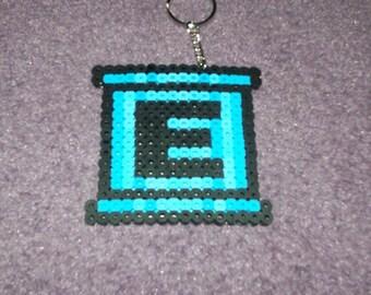 Megaman E-Tank keychained perler sprite