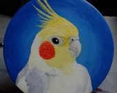 Painted Cockatiel Portrait Ornament