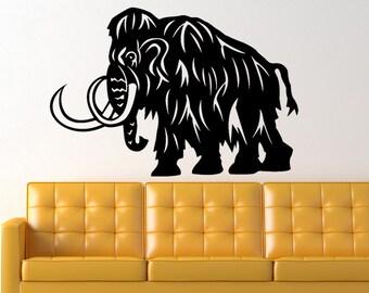 Woolly Mammoth Dinosaur Prehistoric Animal Vinyl Wall Art Graphic Decal