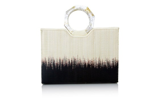 SPRING SALE Ombre straw tote