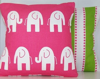 Premier Prints PILLOW COVER Baby, Nursery, Baby Boy, Baby Girl, Candy Pink Pillow, Cushions, Throw Pillow Ele Elephant