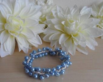 Light Blue Spiral Bracelet