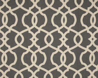 Emory Pewter cotton fabric by the yard lattice Magnolia Home Fashions