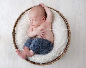 SALE! Newborn , Knit newborn set, Knit hat ,Knit shorts,Photo prop ,Christening ,Photography prop,Newborn shorts