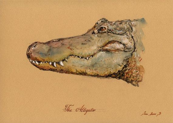 articles similaires imprimer crocodile alligator On peinture crocodile