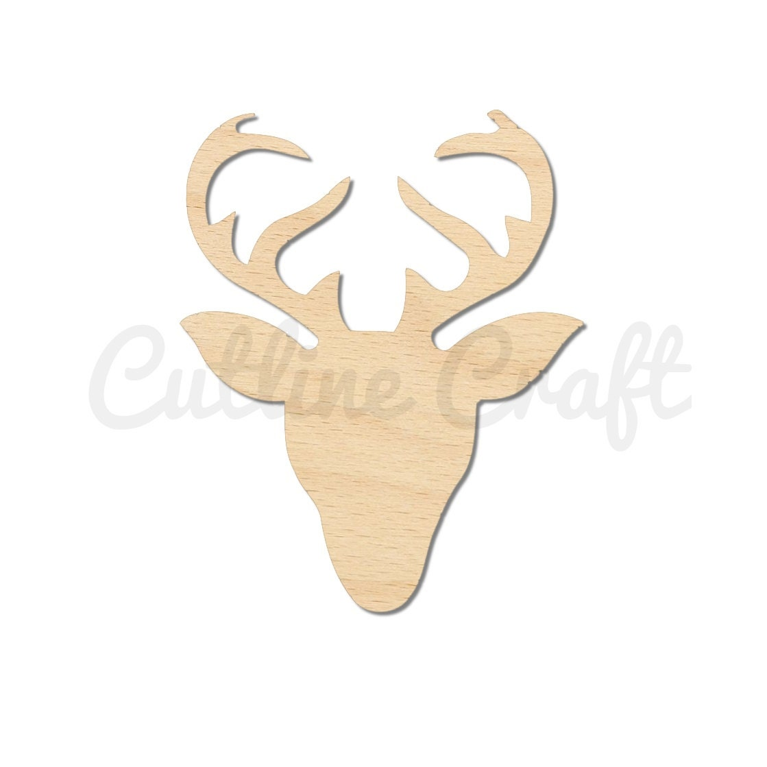 Reindeer head deer antlers christmas 1158 cutout crafts gift for Wooden christmas cutouts