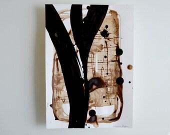 Original abstract art ink drawing- Black white, modern art, minimal art, ink drawing, abstract art, art, minimal art, minimalist painting