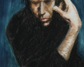 Rock Singer Tom Waits - 10x16 Fine Art Print from a Pastel Original by me the artist