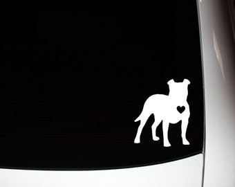 Standing Side Floppy Ear Pit Bull Decal 10% Proceeds to Pit Bull Organization