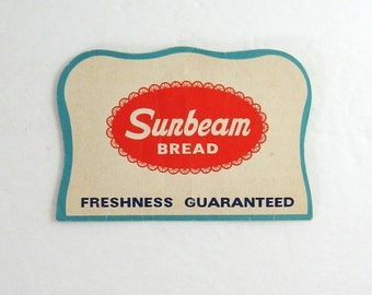 3 Vintage Sewing Needle Books - Sunbeam Bread Advertising - Sewing Room Decor - Kitchen Decor - Sewing Supplies - Red & White Paper Ephemera