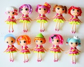 2 pcs  / Decoden / PVC / Accessories / Lalaloopsy / Figurine / Charms / Pendant / Miniature / 8CM / CN683