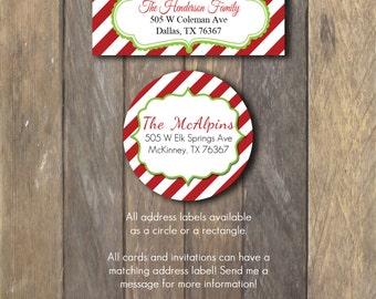Return Address Label- Holiday, Return Address, Invitations, Greetings