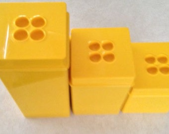 DANSK  Vintage Yellow CANISTER SET from the 1970s