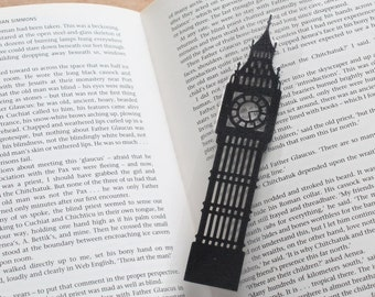 Big Ben Silhouette laminated papercut England Bookmark