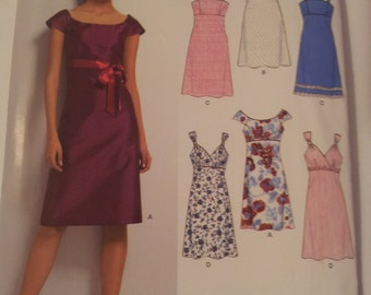 New Look Sewing Pattern 6749 Misses' Dress in Size 6, 8, 10, 12, 14, 16