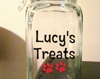 Personalized Pet Treat Jar- Great Gift for Pet Owners