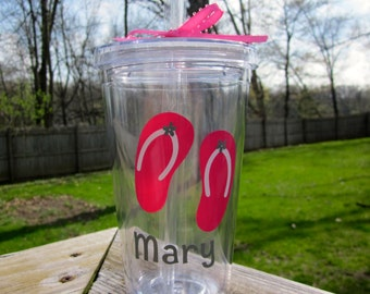 Flip Flop Tumbler- Great for Summer