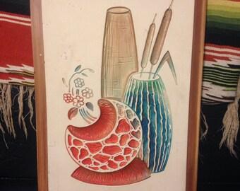 Items Similar To Vintage Chalkware Fruit Plaque Kitchen
