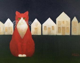 Cat artwork Village Cat